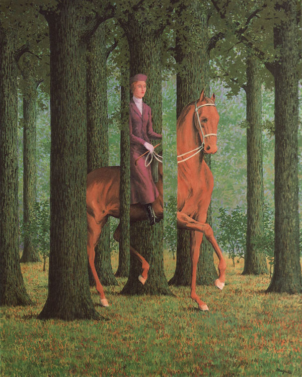 The Blank Check by Magritte