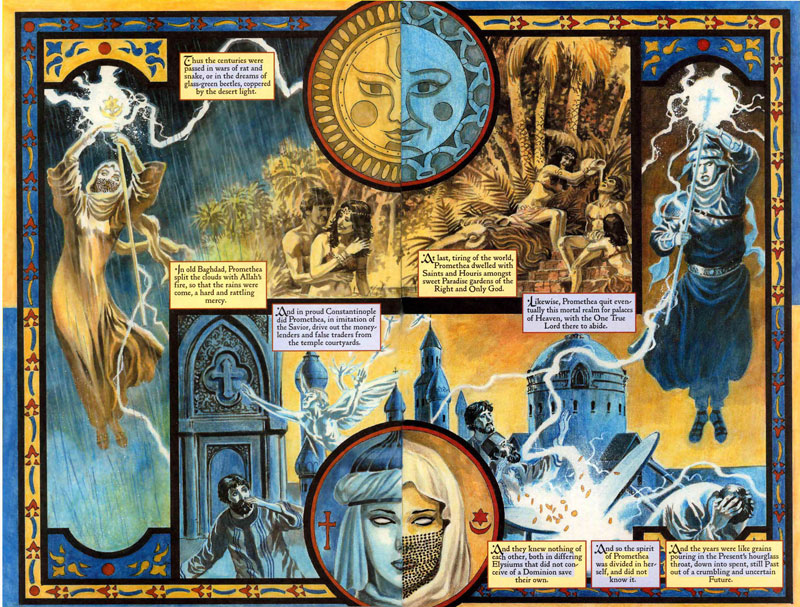 Promethea 24, pages 8-9